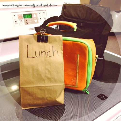 brown bag lunchbox