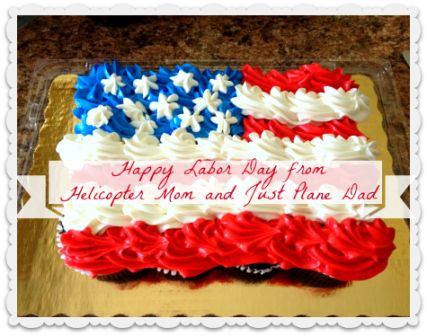 labor day flag cupcakes