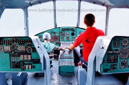 #helicopterparent and son pilot
