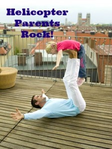 Dad playing airplane with daughter #helicopterparents