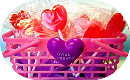 valentine basket with candy