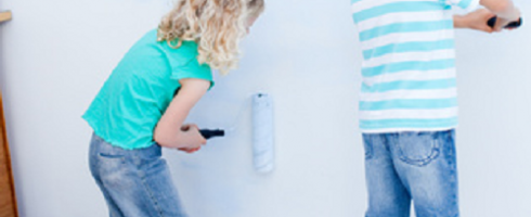 Get the kids involved when decorating the kids bedrooms.