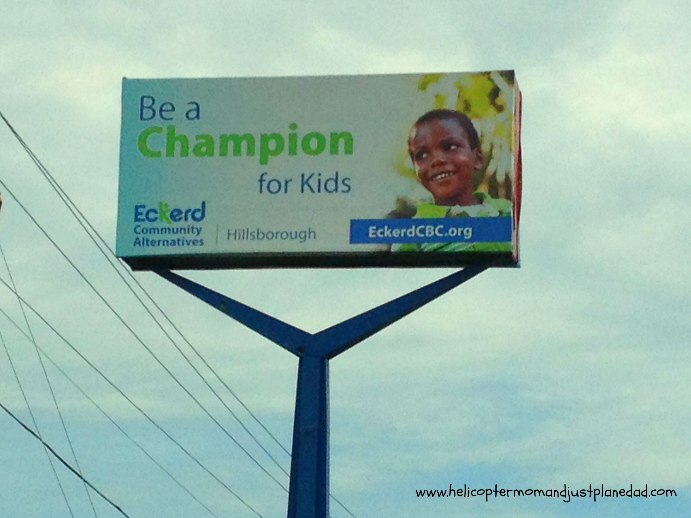 billboard for foster care program