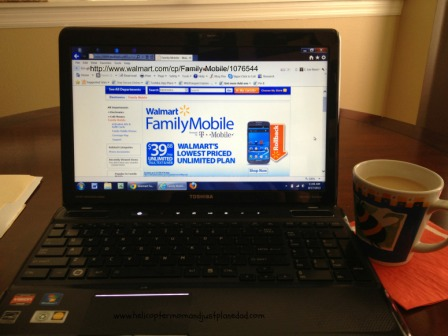looking online for family mobile plans #shop