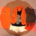 orange outfits for fall