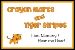 crayon marks and tiger stripes