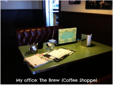 work desk at the brew #MOAM