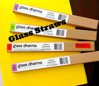 glass straws from Glass Dharma