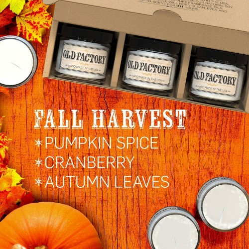 Fall Harvest scented Old Factory Candles