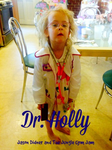 Holly Didner playing doctor
