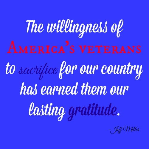 Memorial Day quote from Jeff Miller