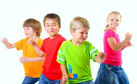 Little kids dancing to their favorite song
