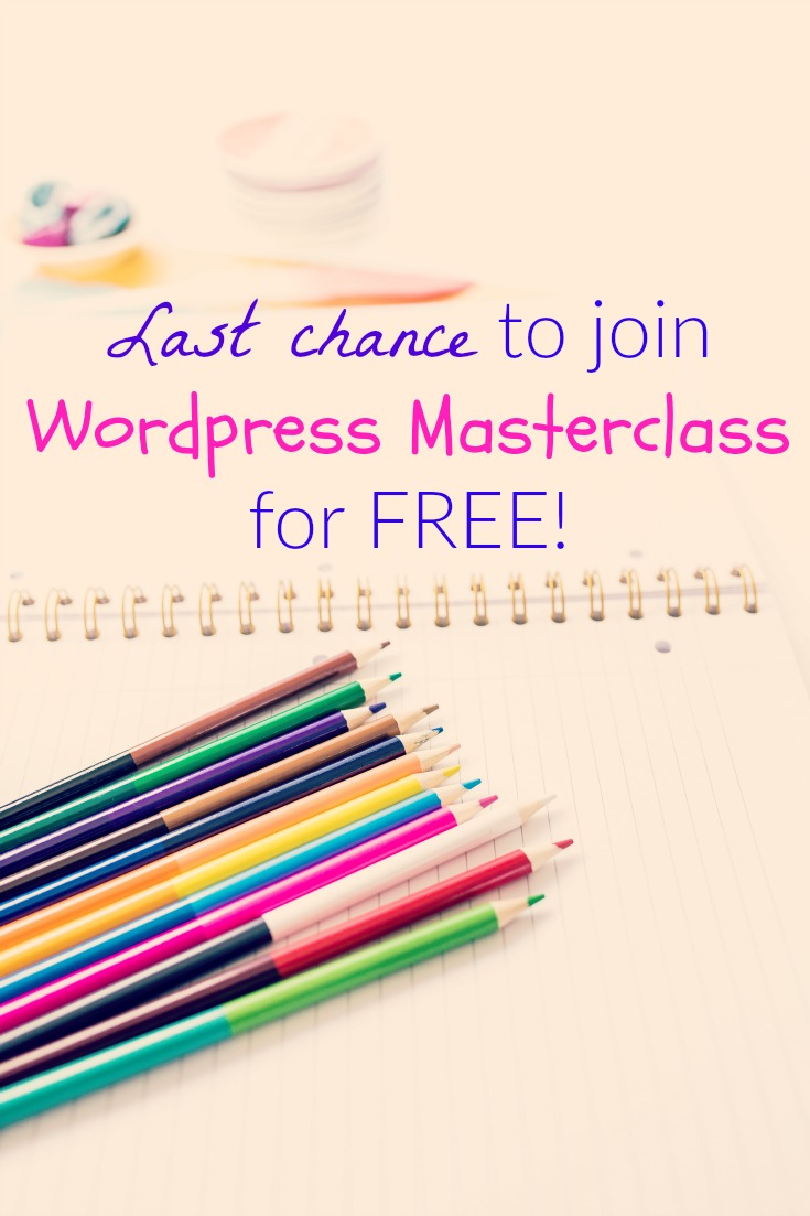 Last Chance! FREE WordPress Masterclass beta group is ending soon. Join today.