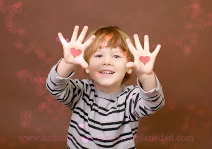 Valentine's Boy with heart on his hands