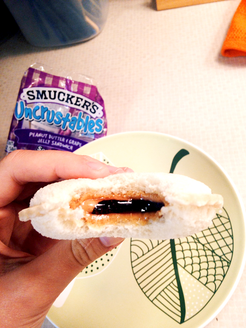 Enjoying a Smuckers Uncrustables with Helicopter Mom and Just Plane Dad