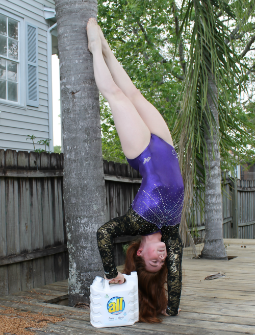 Headstand on the tree #allfreeclear #ad on Helicopter Mom and Just Plane Dad