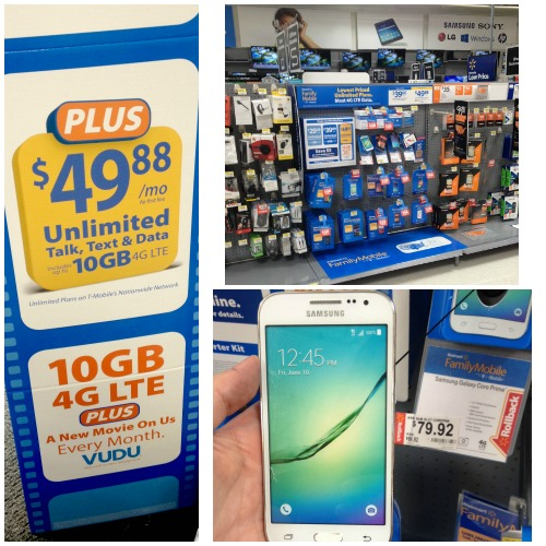 Walmart Family Mobile PLUS keeps us connected #DataAndAMovie #ad