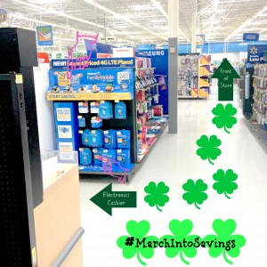 Walmart electronics dept map #MarchIntoSavings #ad